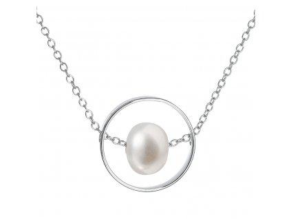 Perlový náhrdelník z pravých říčních perel bílý 22019.1