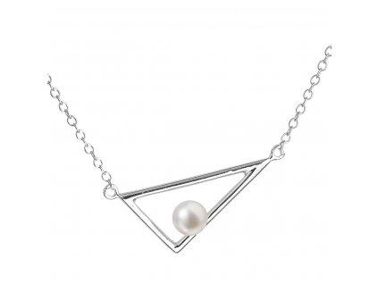 Perlový náhrdelník z pravých říčních perel bílý 22020.1