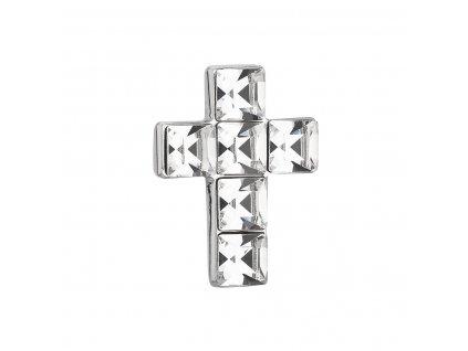 Stříbrný přívěsek s krystaly Swarovski bílý křížek 34236.1