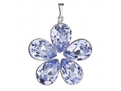 Přívěsek bižuterie se Swarovski krystaly fialová kytička 54037.3
