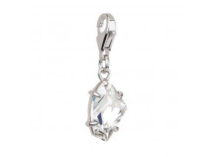 Stříbrný přívěsek s krystaly bílý 34815.1