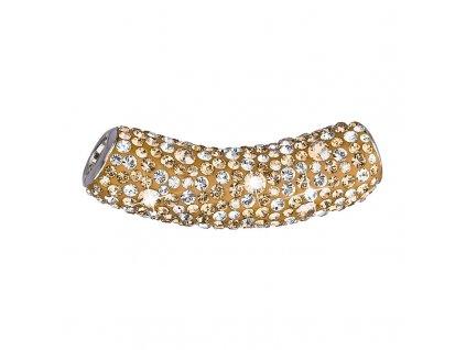 Stříbrný přívěsek s krystaly Swarovski zlatá trubička 34132.5 gold
