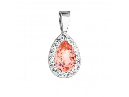 Stříbrný přívěsek s krystaly Swarovski oranžová slza 34252.3