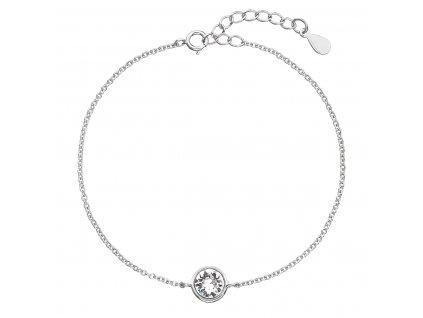 Stříbrný náramek se Swarovski krystaly bílý 33113.1