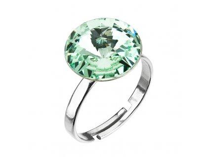 Stříbrný prsten s krystaly zelený 35018.3 chrysolite