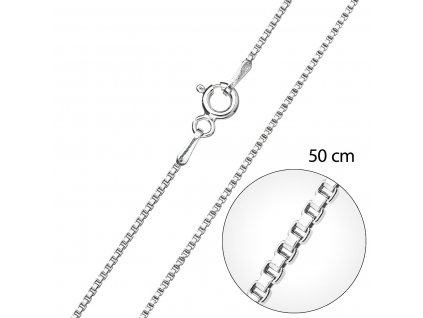Stříbrný řetízek kulatý délka 50 cm 30014
