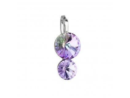 Přívěsek bižuterie se Swarovski krystaly fialový kulatý 54028.5