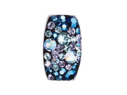 Stříbrný přívěsek s krystaly Swarovski modrý obdélník 34194.3 blue style