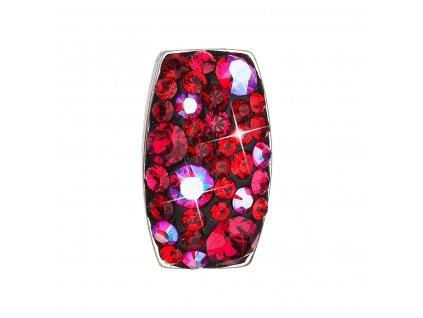 Stříbrný přívěsek s krystaly Swarovski červený obdélník 34194.3 cherry