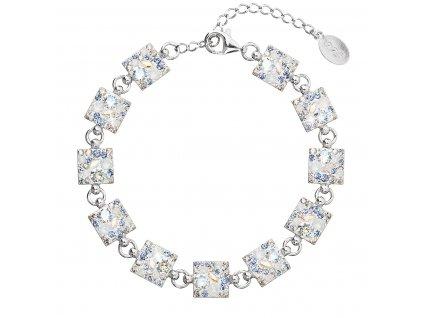 Stříbrný náramek se Swarovski krystaly modrý 33047.3 light sapphire