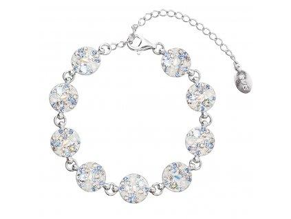 Stříbrný náramek se Swarovski krystaly modrý 33048.3 light sapphire