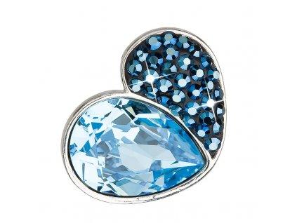 Stříbrný přívěsek s krystaly modré srdce 34161.3