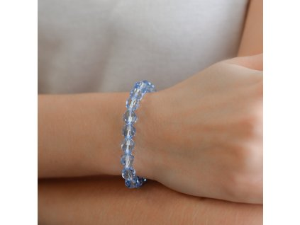 Náramek s modrými krystaly 73042.3 lt. sapphire