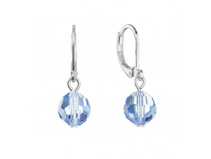 Visací náušnice s modrými krystaly 71130.3 light sapphire