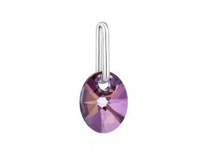 Přívěsek bižuterie se Swarovski krystaly fialový ovál 54039.3