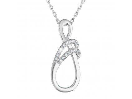 Zlatý náhrdelník 82005.1 bílé zlato s briliantem