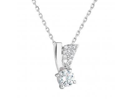 Zlatý náhrdelník 82008.1 bílé zlato s briliantem