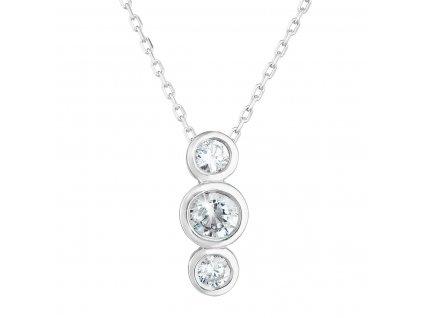 Zlatý náhrdelník 82009.1 bílé zlato s briliantem