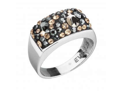 Stříbrný prsten s krystaly mix barev zlatý 35014.4 colorado