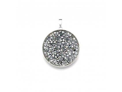Přívěsek bižuterie se Swarovski krystaly kulatý 54041.5 calvsi