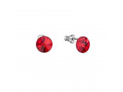 Náušnice bižuterie s Preciosa krystaly červené kulaté 51037.3