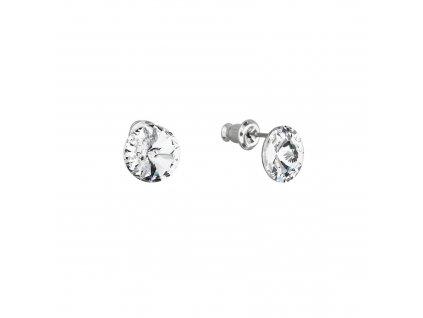 Náušnice bižuterie s Preciosa krystaly bílé kulaté 51037.1