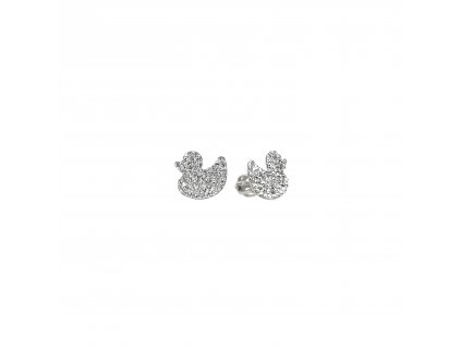 Stříbrné náušnice pecky s krystaly Swarovski kačenka 71139.1