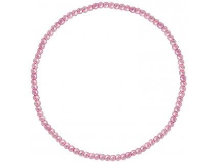 Korálkový náramek růžový 73051.3