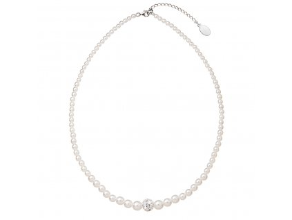 Perlový náhrdelník Swarovski bílý 32006.1