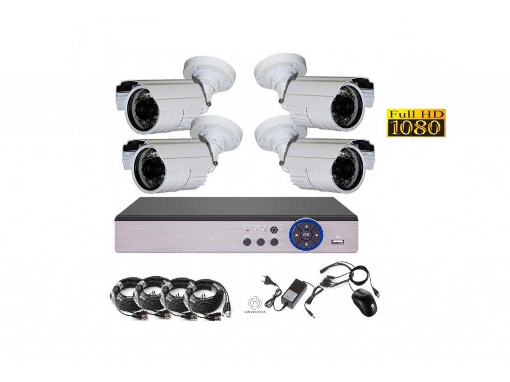 4CH 2MPx AHD kamerovy set CCTV DVRsLAN venkovn bullet , CZ menu, P2P, HDMI, IVA, H265 1100x750 (1)
