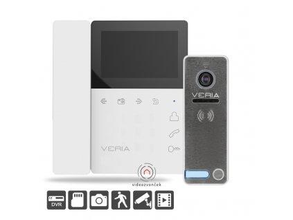 SET Videotelefon VERIA 7043B bílý + VERIA 230