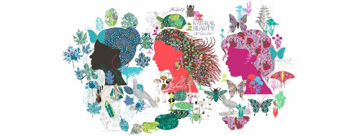 Metráž, kolekce látek Natural Beauty od návrhářky Amy Butler