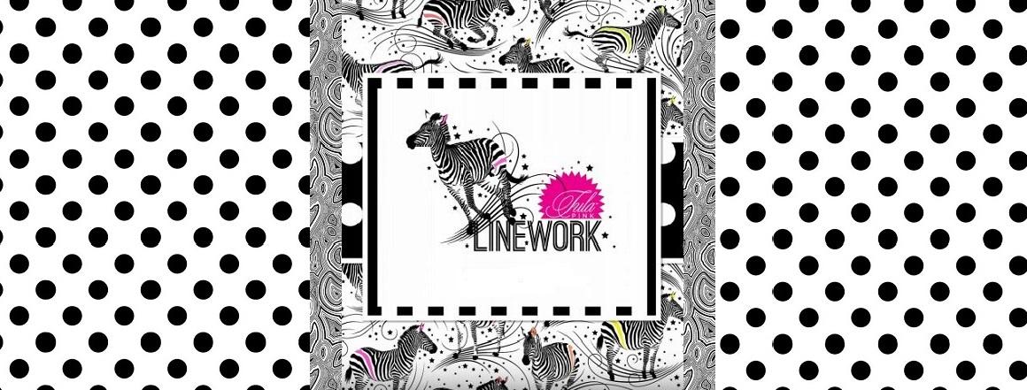 Kolekce látek LINEWORK, návrhářka Tuly Pink, novinka podzim 2020