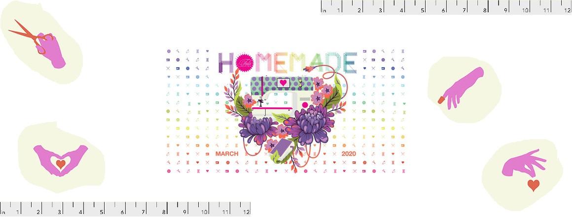 Kolekce látek HOMEMADE od návrhářky Tuly Pink
