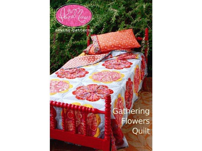 návod na quilt Gathering Flowers Quilt