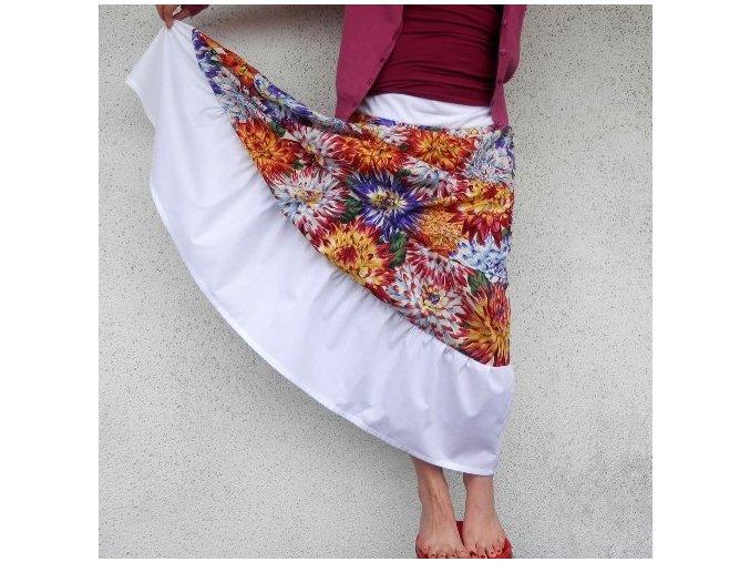 Návod na sukni z řasených proužků - začátečníci