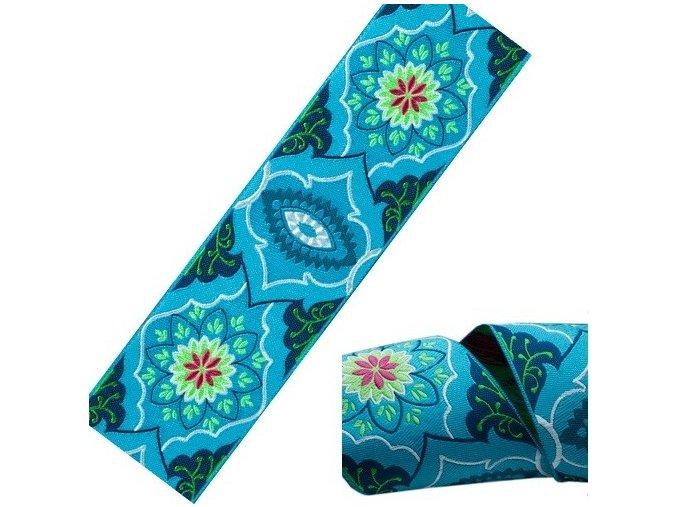 stuha Amy Butler brokát modrý, Renaissance Ribbons