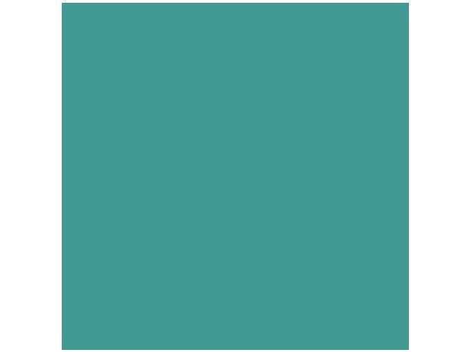 Jednobarevná metráž tyrkysová