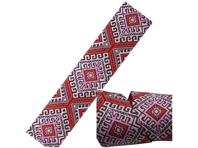 stuha Amy Butler Camel Blanket růžová, Renaissance Ribbons
