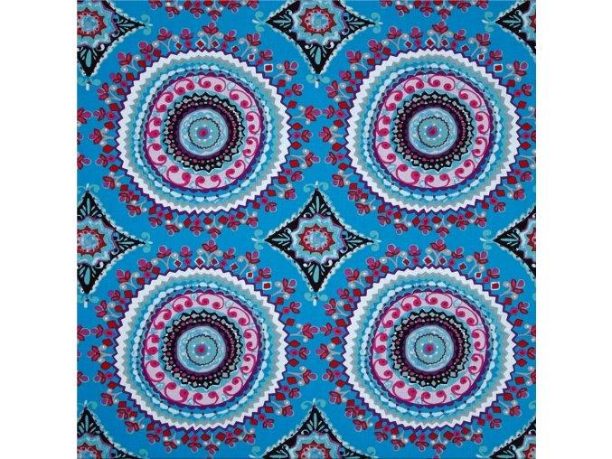 bavlněné plátno Large Circles in Black