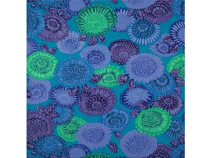 bavlněné plátno Lacy  in Blue