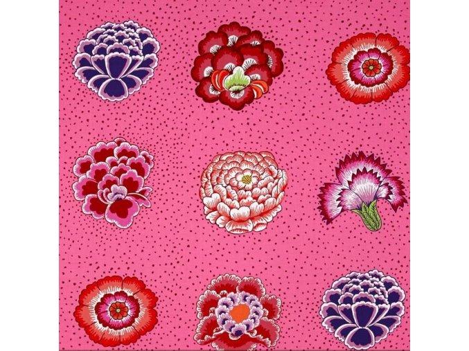 bavlněné plátno Corsage in Pink, Kaffe Fassett