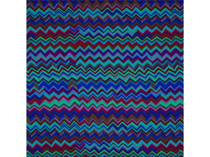 bavlněné plátno Zig Zag in Cobalt