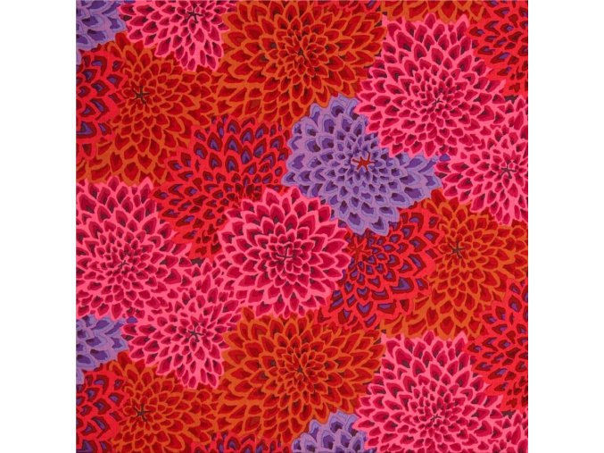 bavlněné plátno Dahlia Blooms in Lush