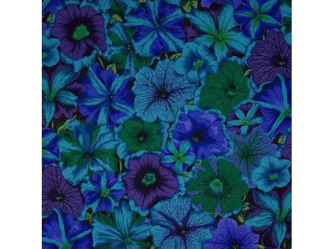 bavlněná látka Petúnie tmavě modré