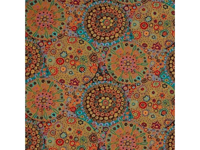 bavlněná látka Millefiore in Antique návrhář Kaffe Fassett luxusní kvalita vhodné na patchwork
