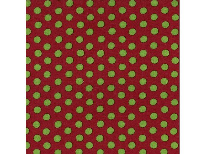Puntíky zelené na hnědé