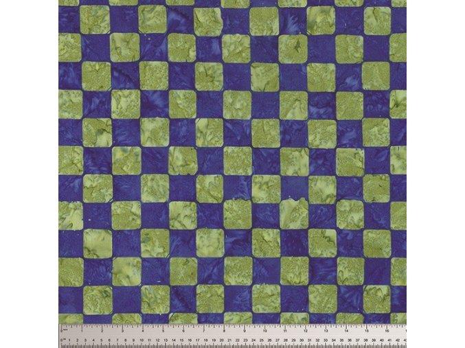 batikovaná metráž Chess in Cobalt