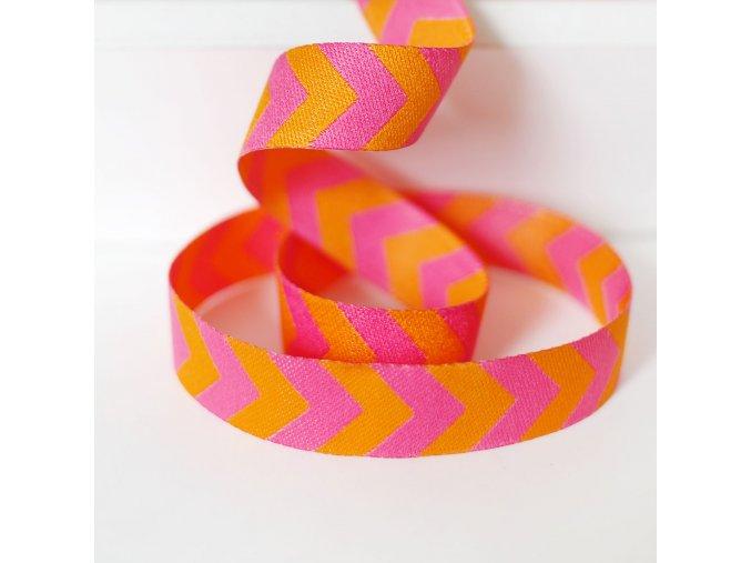 chevron webband orange pink2