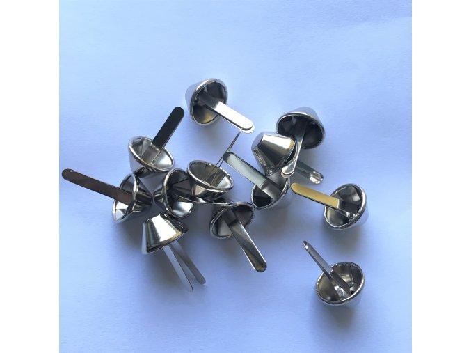 nožičky na kabelky stříbrné 15 mm